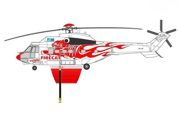 HELITAK FT4250 SUPER PUMA FIRECAT